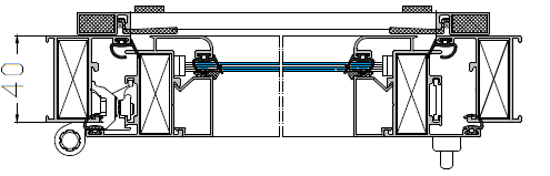 Окно балконное поворотное