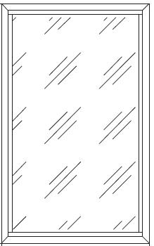 Окно балконное стационарное