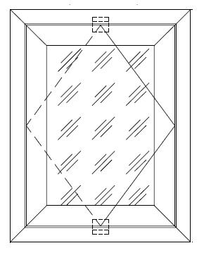 Среднеповоротные окна с вертикальной или горизонтальной осью вращения