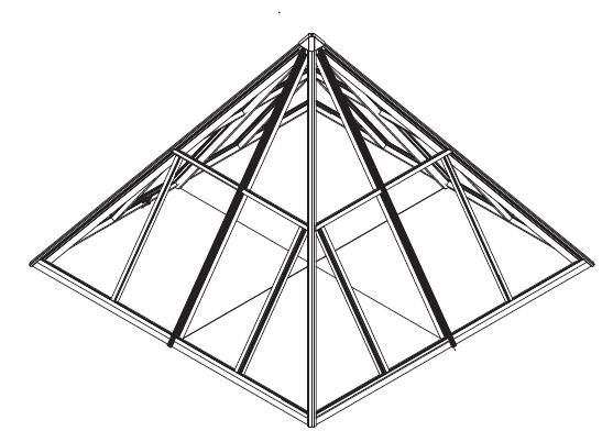 «Правильная» 4-х гранная пирамида с равными ребрами
