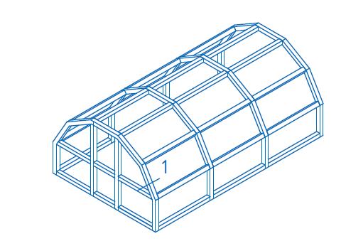 Арочная крыша с остекленными торцами