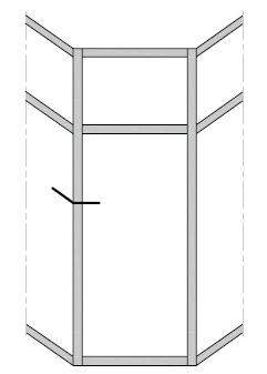Вертикальные радиусные фасадные витражи