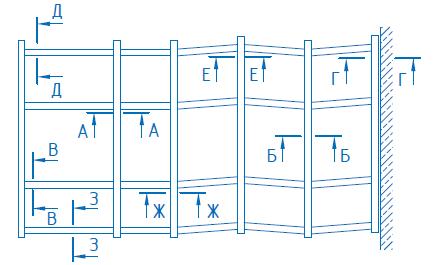 Вертикальные фасадные витражи с угловыми переходами