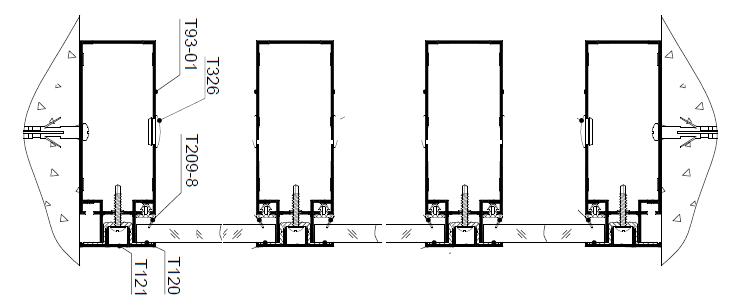 Перегородка с 2-х сторонним светопрозрачным заполнением