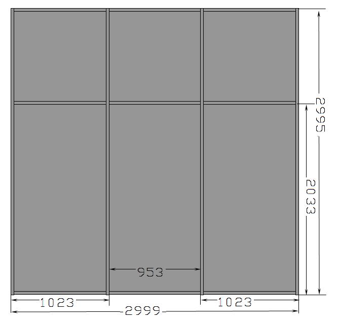 Optima_Т45 (45х45 мм); RAL9006; ЛДСП 8 мм