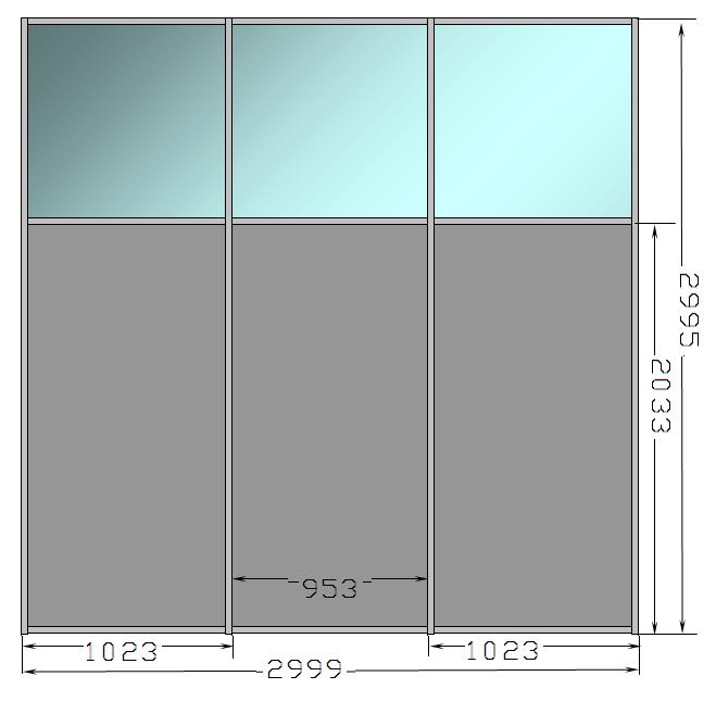 Optima_Т45 (45х45 мм); RAL9006; СТ М1 5.0 мм; ЛДСП 8 мм