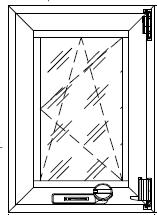 Большеформатное окно с распашной створкой с открыванием внутрь