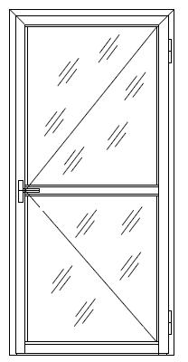 Дверь из оконного профиля (Р400; RAL9016; Секло М1 4.0 мм; Elementis)