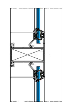 Окно балконное стационарное с импостами RAL9016 9016