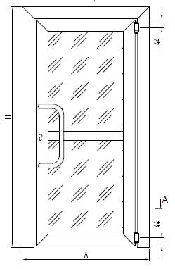 ДВЕРИ С НЕЗАВИСИМЫМ ОТКРЫВАНИЕМ СТВОРОК С ПЕТЛЯМИ FRIDAVO (маятниковые двери с пружинными «барными» петлями)